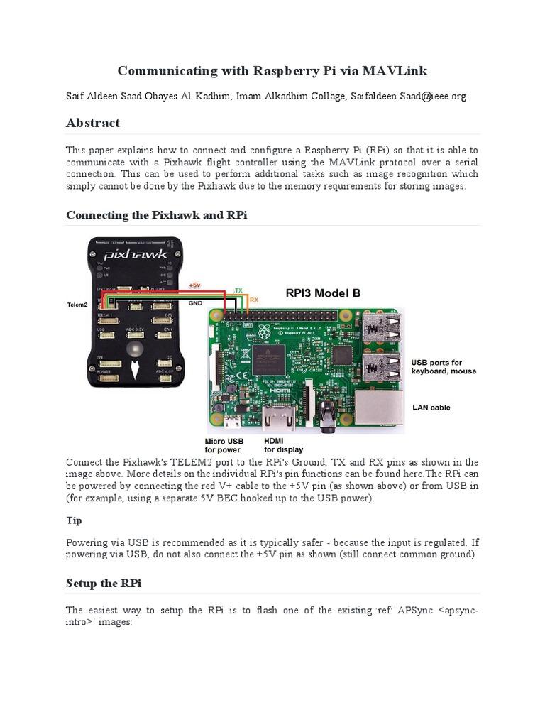 Communicating With Raspberry Pi via Mav Link | Sudo | Command Line