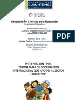 Cooperación Internacional Reyes Adriana