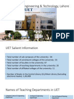 UET hydro Salient Info