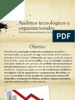 Ámbitos tecnológicos y organizacionales