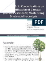 Effect of Acid Concentrations on Saccharification of Cassava