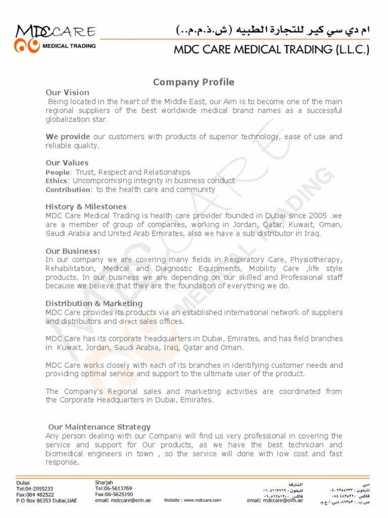 Company Profile | United Arab Emirates | Dubai