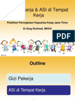 Gizi pekerja & ASI di Tempat Kerja (Pelatihan Peningkatan Kapasitas Kesja jatim)- RM.ppt
