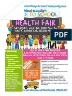 Orland Township Back To School Health Fair 2018
