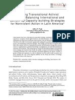 Pugh, Weaving Transnational Activist Networks