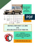 2002 Honda Odyssey LIBRO de Diagramas