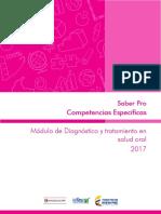 Guia de Orientacion Competencias Especificas Modulo de Diagnostico y Tratamiento en Salud Oral Saber Pro-2017