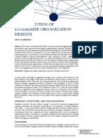 Evol Enterprise Org Design