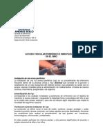 Acceso Vascular Periferico y Fleboclisis