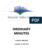 Meander Valley Council July Minutes