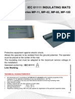IEC 61111 Insulating Mats Class 0 to Class 4