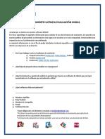 Solicitud de Licencia de Evaluacion 2017-MIDAS