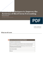 Improve the Accuracy of Short Term Forecasting (2)