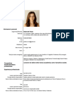 CV Paola Raimondi / Commessa