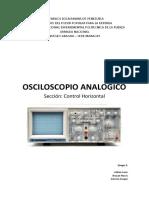Osciloscopio Analogico Horizontal