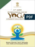Common Yoga Protocol (E), 2018