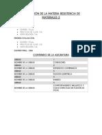 Evaluacion de La Materia Resistencia de Materiales 2