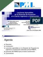 Lecciones Aprendidas en la Dirección de Proyectos en el Sector Ingeniería y Construcción