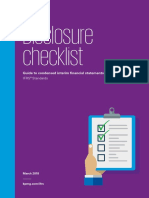 2018 Interim Disclosure Checklist