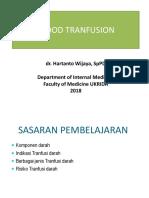 BAHAN KULIAH IPD (Dr. Hartanto) Blok 24-Transfusi Darah
