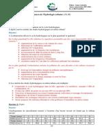Correction Exam Hydro Urbain