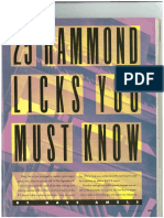 25 Hammond Licks