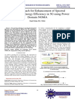 Noble Approach for Enhancement of Spectral Efficiency and Energy Efficiency in 5G using Power Domain NOMA