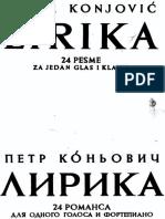 Konjović, Petar - Lirika