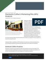 Starbucks Coffee's Marketing Mix (4Ps) Analysis - Panmore Institute