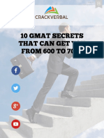10 GMAT Secrets to Score Above 700