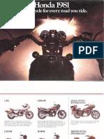 Honda Motorcycles 1981