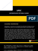 UPSC Anthropology Optional Classes