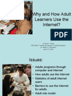 PSE 6660 Why and How Adult Learners Use the Internet