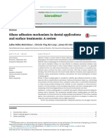 Silane Adhesion Mechanism in Dental Applications and Surface Treatments - A Review 2018