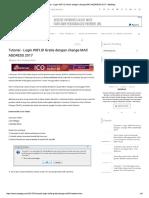 Tutorial - Login WIFI.id Gratis Dengan Change MAC ADDRESS 2017 - MasDag
