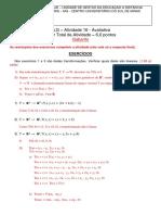ALG - Atv. 16 - Av - Tranf Lineares, Autovalores e Autovetores - Gabarito