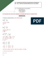 ALG - Atv. 8 - Av - Determinantes - Gabarito