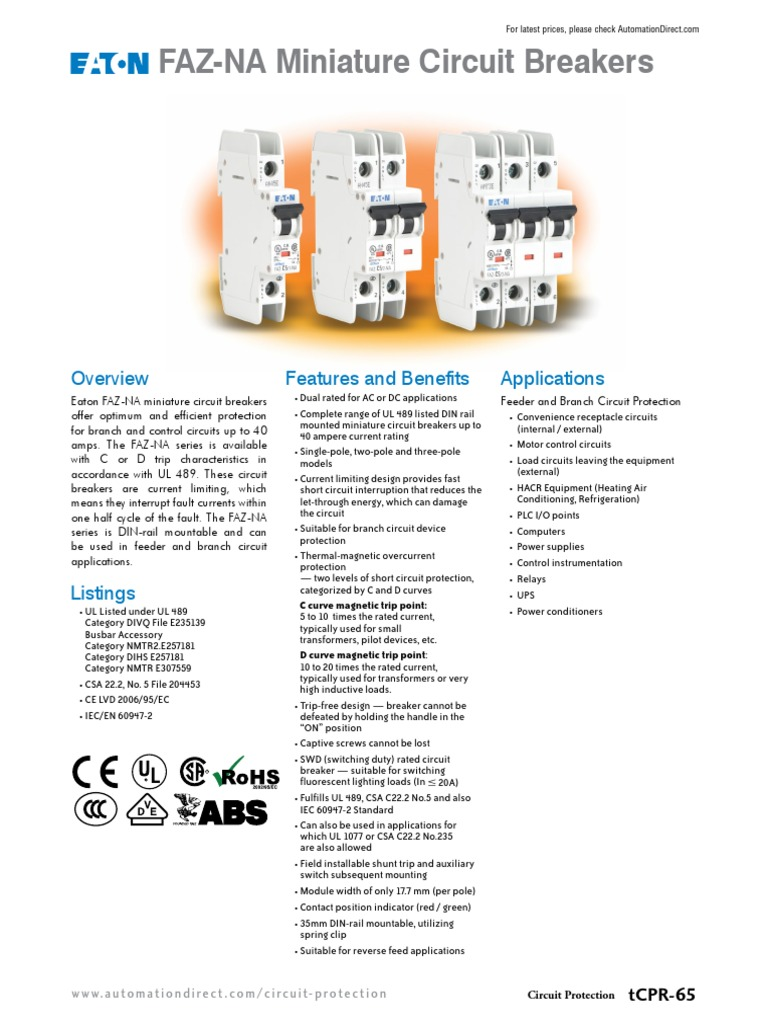 Eatonfazna Electrical Engineering Electricity Power Supply With Current Limiter And Stand Alone