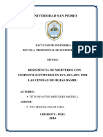 Proyecto Resistencia de Morteros Con Cenizas de Hojas Bambu - Tito Infantes Mercedes