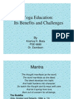Yoga Education PPT Slides
