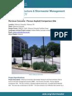 Stormwater Case 299 Pervious Concrete - Porous Asphalt Comparison Site, Villanova, PA