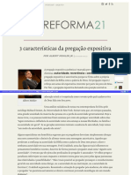 Reforma21 Org Artigos 3 Caracteristicas Da Pregacao Expositiva HTML