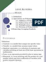 8 Polynomials