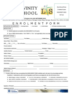 Divinity School 2018 New Enrollment Form