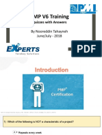 PMP Training Quizzes With Answers