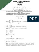 CBSE Class 12 Mathematics Sample Paper 1 0