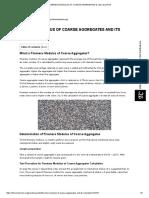 Fineness Modulus of Coarse Aggregates & Calculation