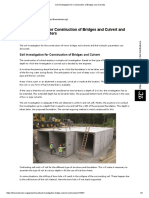 Soil Investigation for Construction of Bridges and Culverts