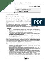 Info Med 08 2007 Titoli Accademici Prof e PD Dr