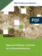 Mapa de Politicas y Normas de La Descentralizacion 2008